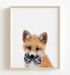 Baby Fox with Bow Tie Printable Art