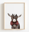 Baby Goat with Bow Tie Printable Art
