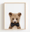 Baby Grizzly Bear with Bow Tie Printable Art