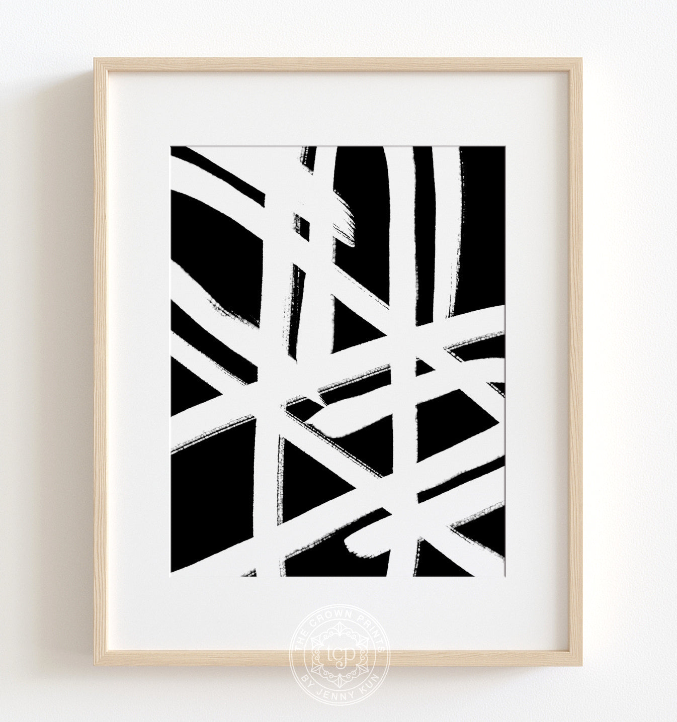 Abstract Paperclips - Black Printable Art