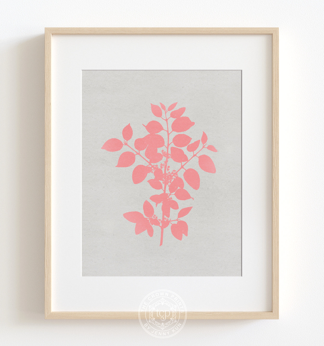 Botanical Silhouette No. 1 - Pink Printable Art