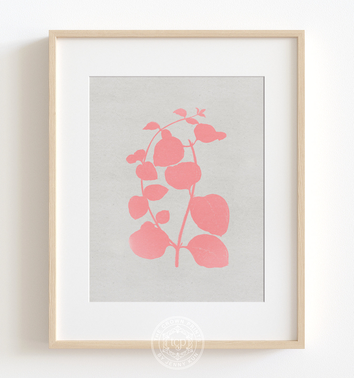 Botanical Silhouette No. 2 - Pink Printable Art