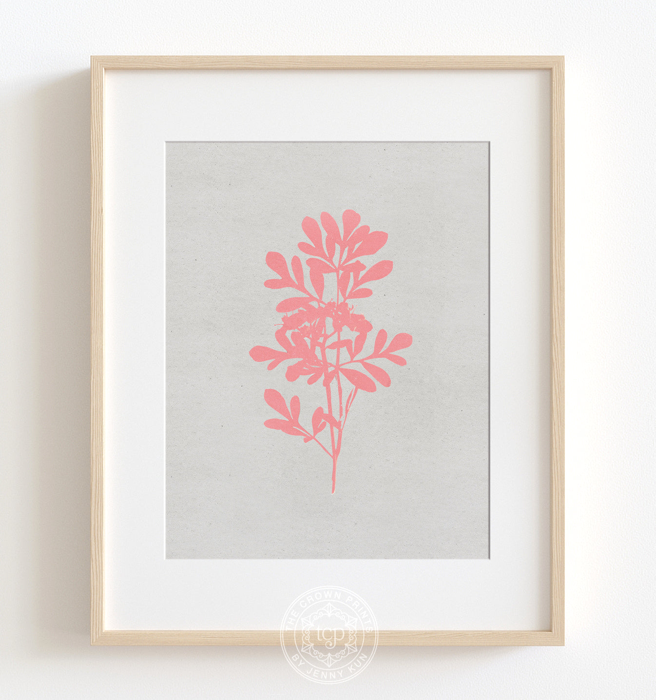 Botanical Silhouette No. 4 - Pink Printable Art