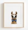 Baby Llama with Bow Tie Printable Art