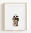 Baby Meerkat with Bow Tie Printable Art