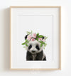 Baby Panda No. 2 with Flower Crown Printable Art