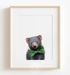 Baby Tasmanian Devil with Bow Tie Printable Art