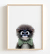 Baby Monkey with Bow Tie Printable Art