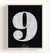 Number Nine - Black on White Printable Art