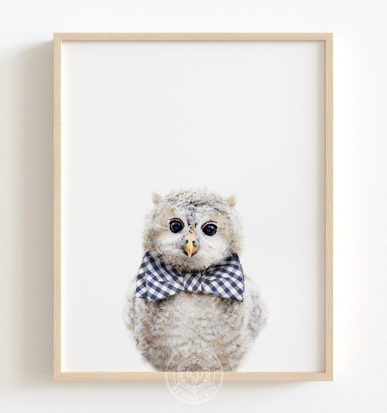 Baby Owl with Bow Tie Printable Art