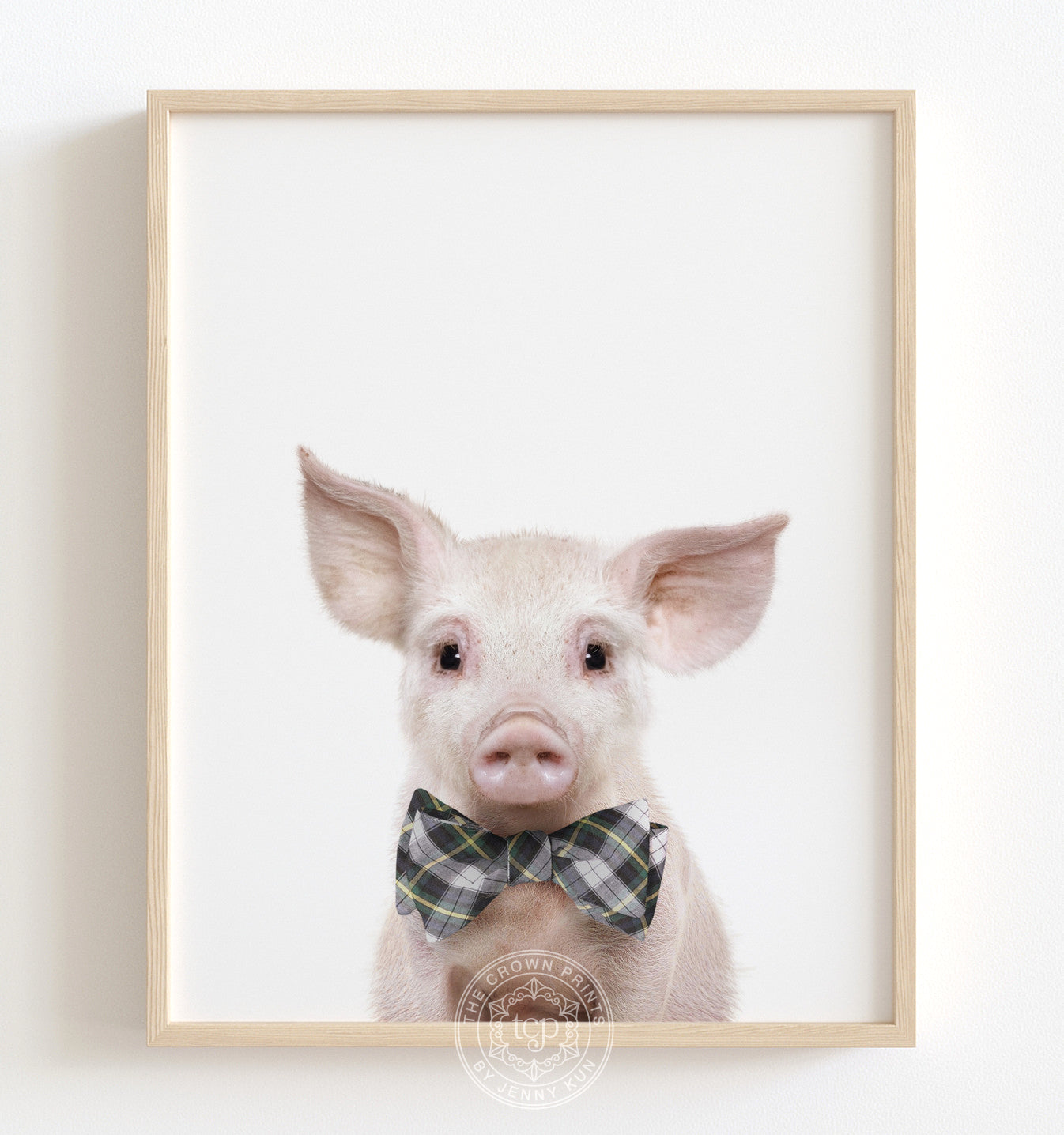 Baby Pig No. 2 with Bow Tie Printable Art