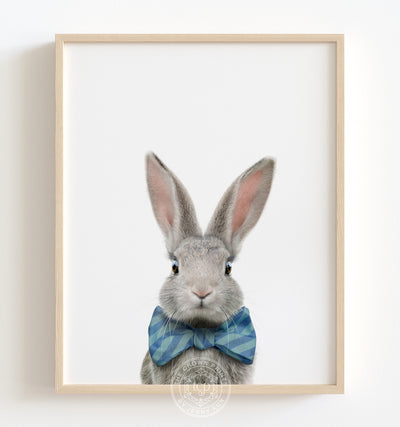 Baby Rabbit No. 3 with Bow Tie Printable Art