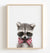 Baby Raccoon with Bow Tie Printable Art