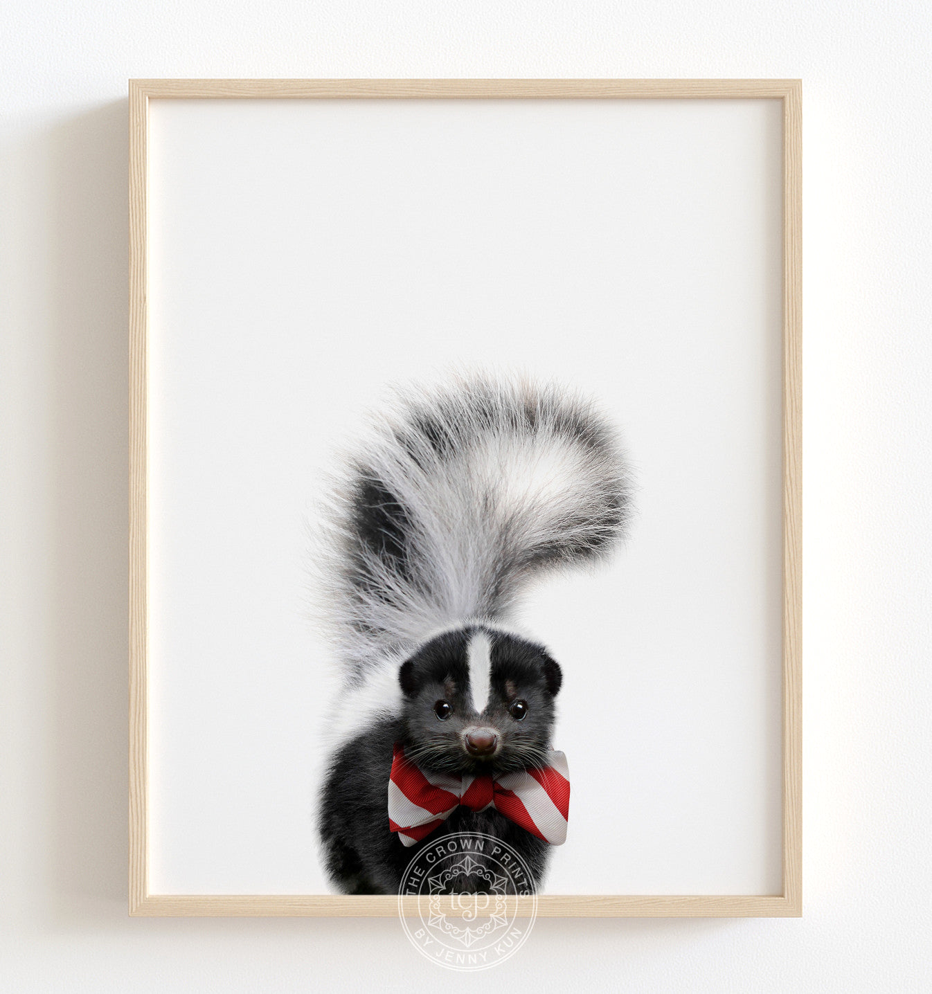 Baby Skunk with Bow Tie Printable Art