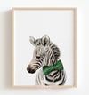 Baby Zebra with Bow Tie Printable Art
