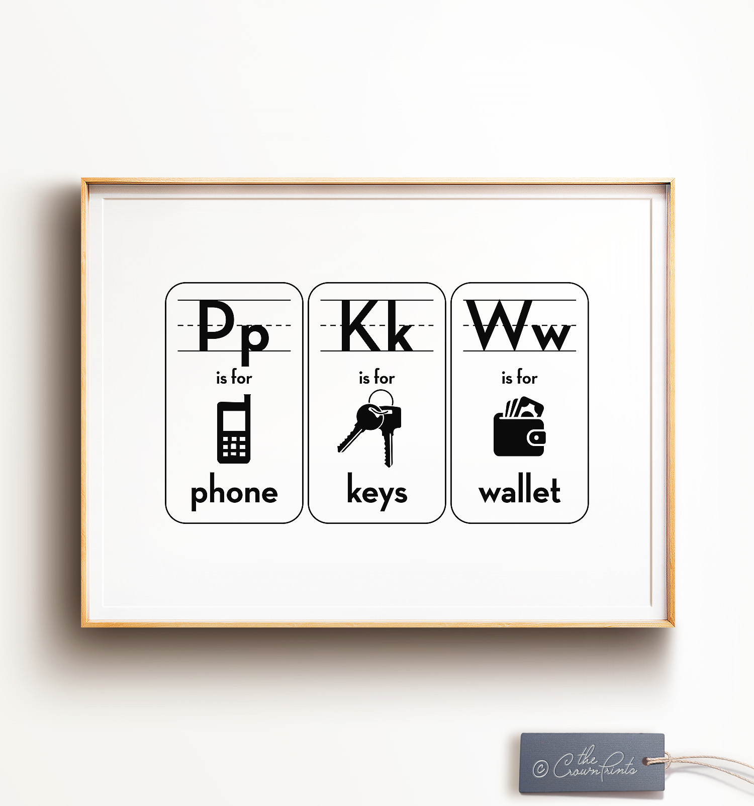 PKW - Phone Keys Wallet Print - The Crown Prints