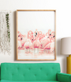 Pink Flamingos Printable Art