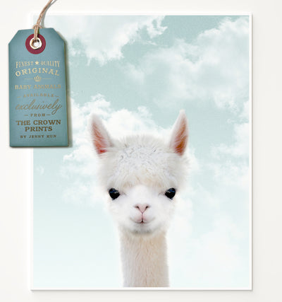Baby Alpaca with Blue Sky Printable Art