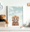 Baby Cheetah with Blue Sky Printable Art