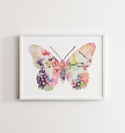 Butterfly Artwork Set of 6 Horizontal Printable Art