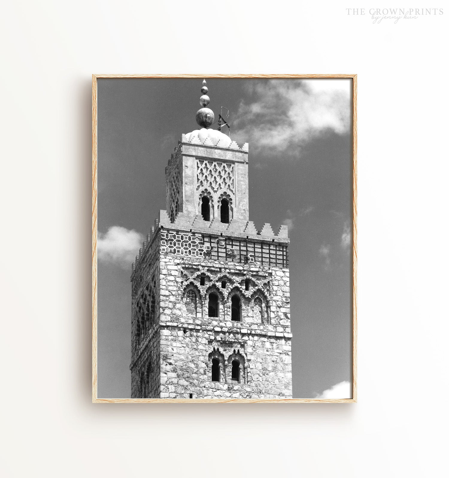 Morocco Tower - Black and White