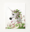 Unicorn with Flower Crown Portrait