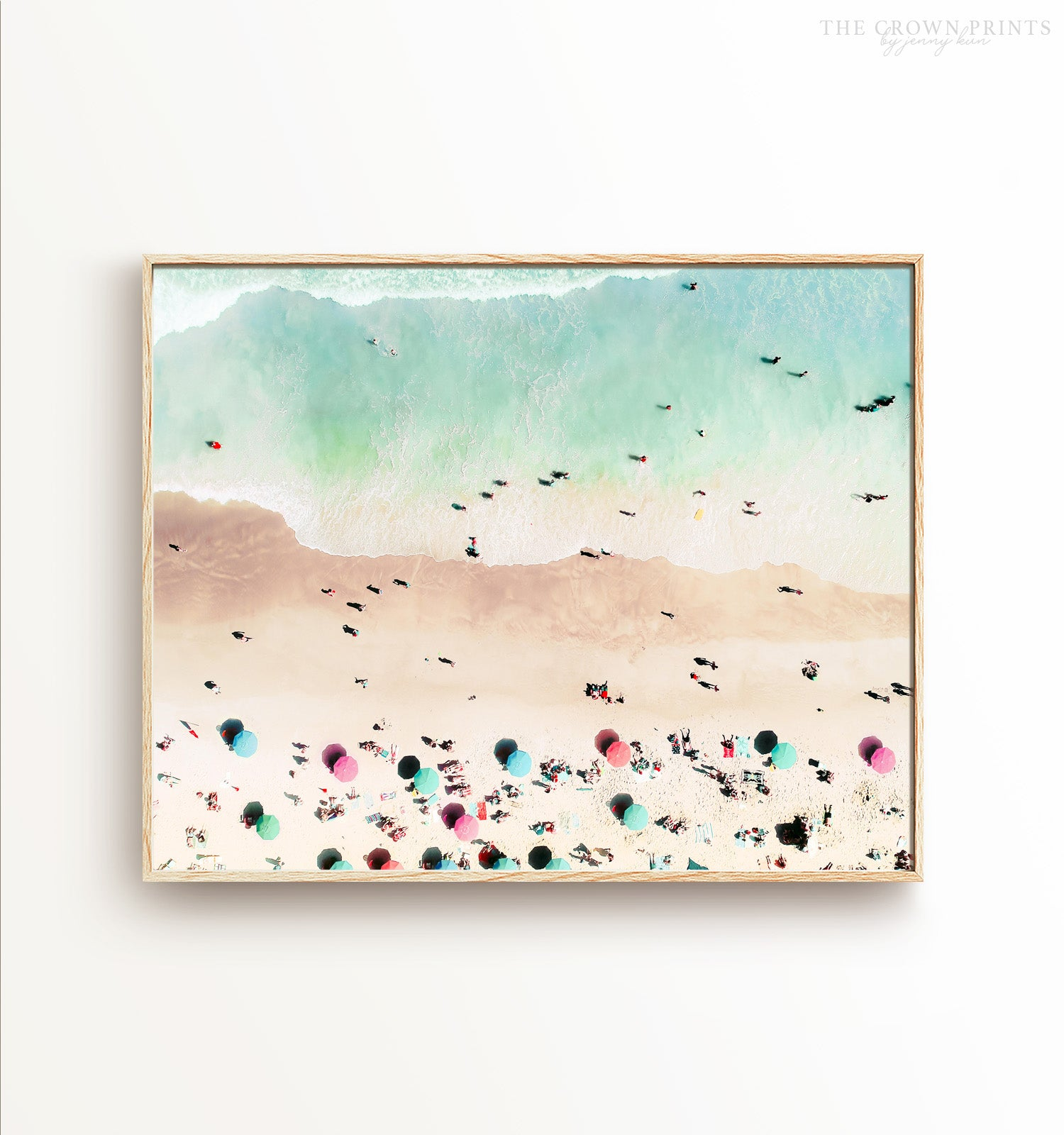 Bird's Eye Beach Print - The Crown Prints