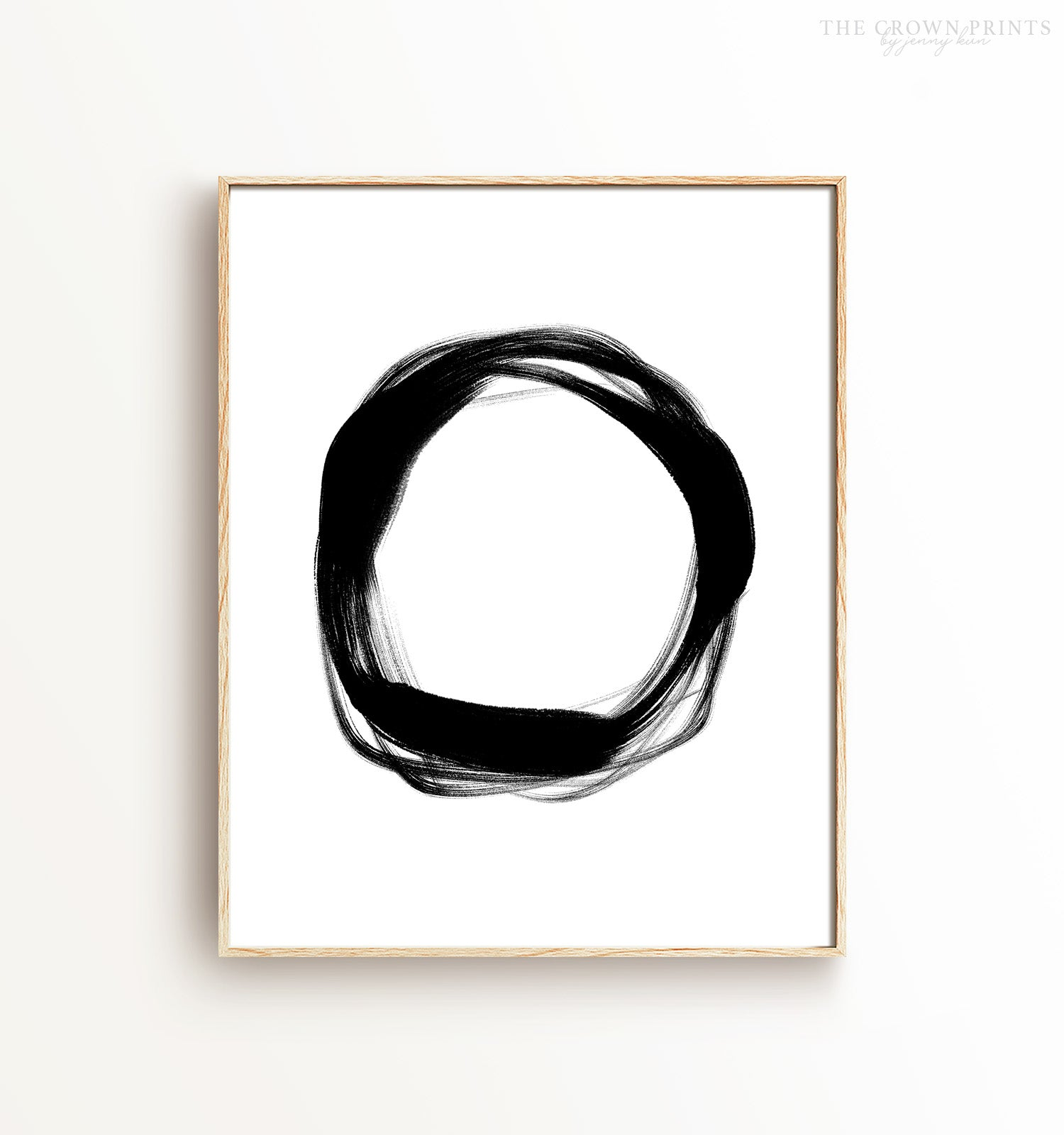 Abstract Black & White Ring - The Crown Prints