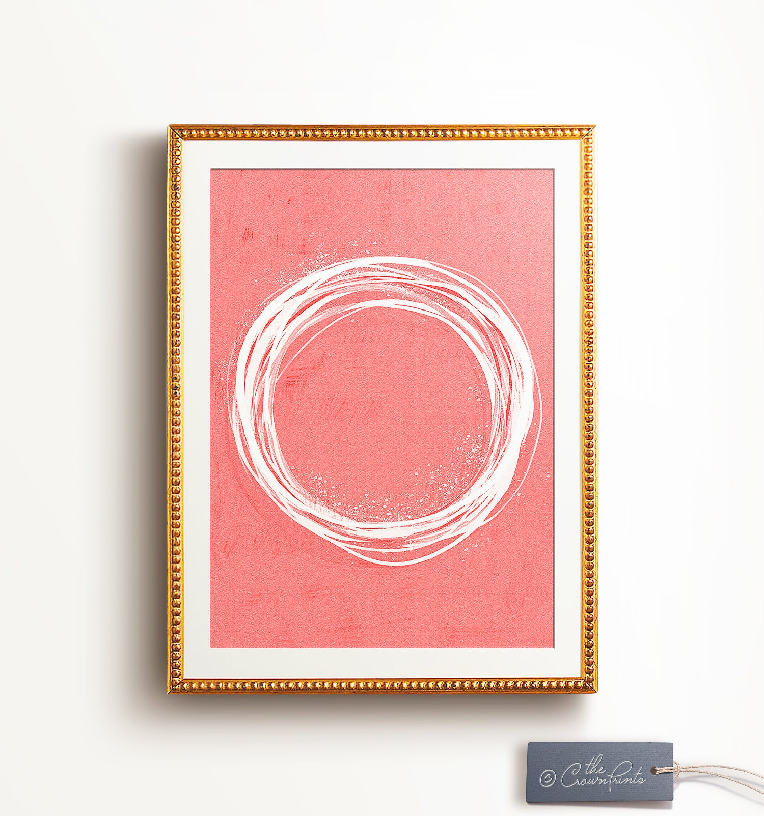 Coral Abstract Wall Art - Printable Art