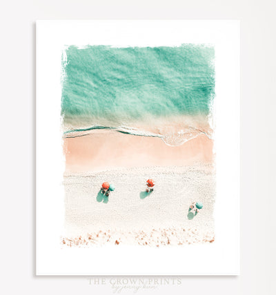 Aerial Beach Printable Art