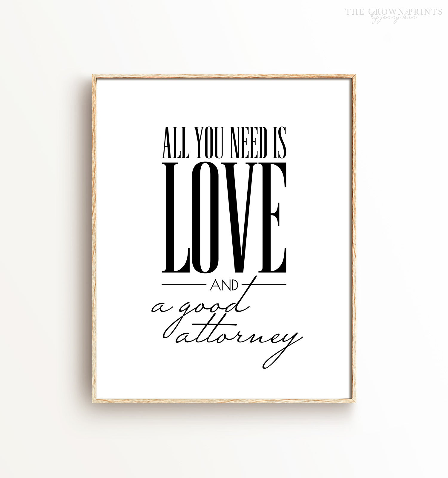 All you need is love and a good attorney - The Crown Prints