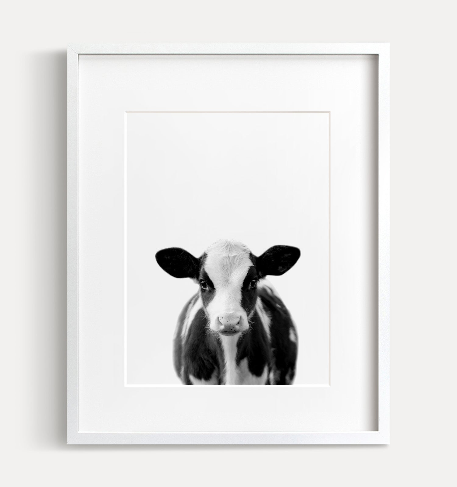 Baby Cow Print - Black and White - The Crown Prints