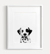 Baby Dalmatian Puppy Print - Black and White - The Crown Prints