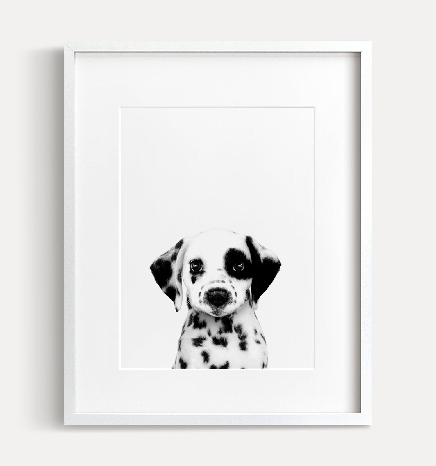 photo regarding Dalmation Printable titled Kid Dalmatian Doggy Black and White Printable Artwork