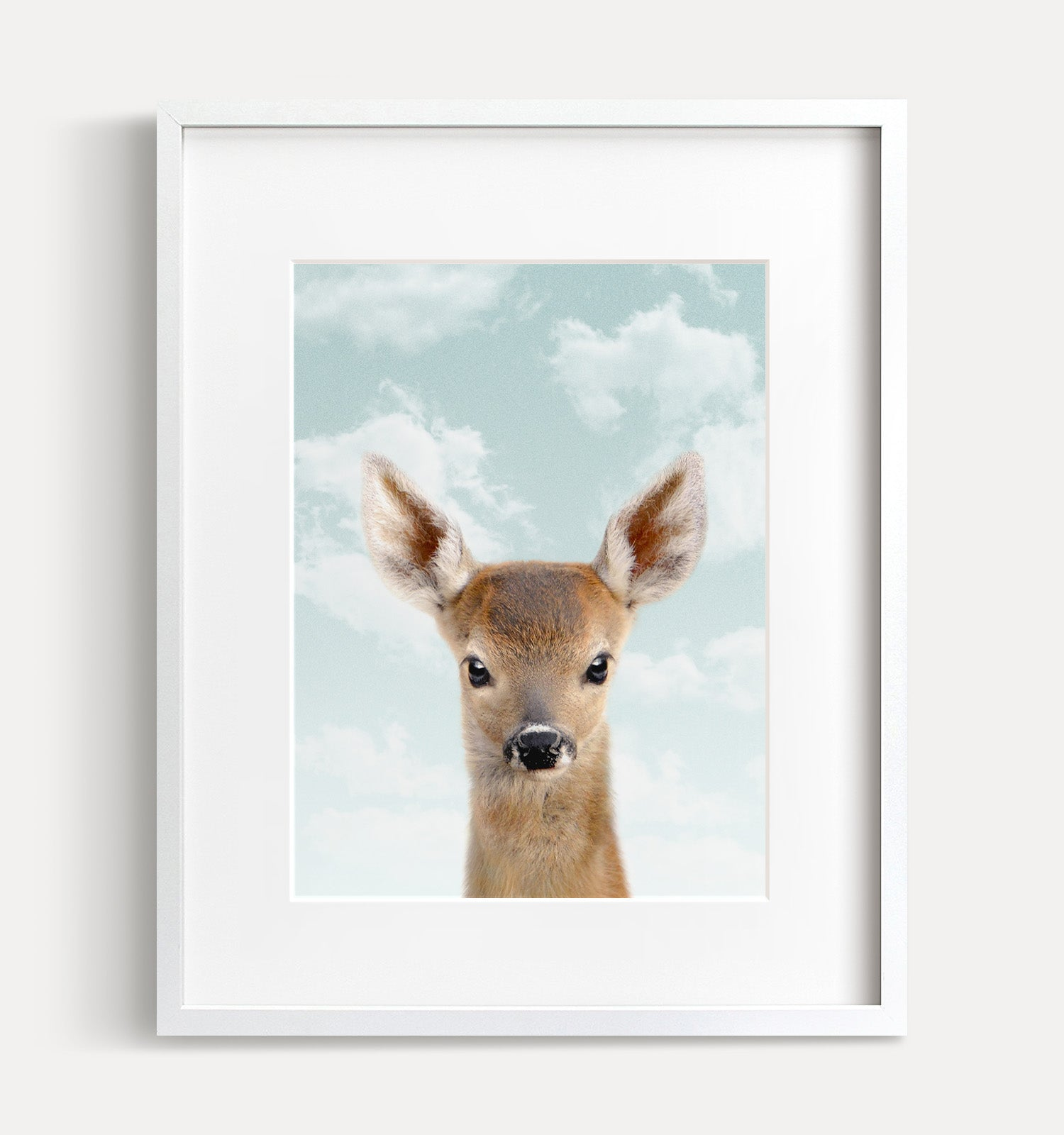 Baby Deer with Blue Sky Printable Art