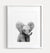 Baby Elephant Printable Art - Black and White