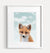 Baby Fox with Blue Sky Printable Art