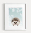 Baby Hedgehog with Blue Sky Printable Art