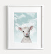 Baby Lamb with Blue Sky Printable Art