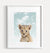 Baby Lion with Blue Sky Printable Art