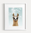 Baby Llama with Blue Sky Printable Art