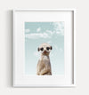 Baby Meerkat with Blue Sky Printable Art