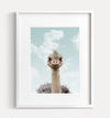 Baby Ostrich with Blue Sky Printable Art