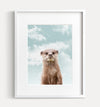 Baby Otter with Blue Sky Printable Art