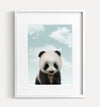 Baby Panda with Blue Sky Printable Art