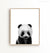 Baby Panda Print - Black and White - The Crown Prints