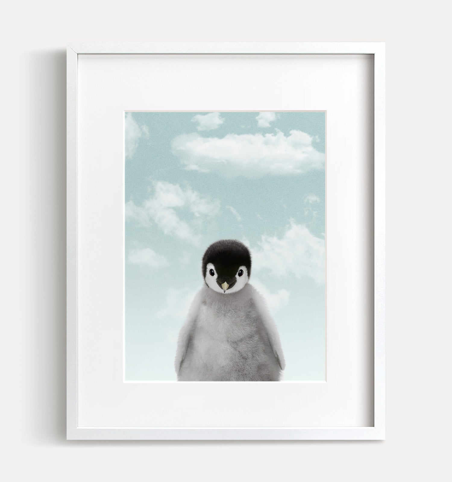 Baby Penguin with Blue Sky Printable Art