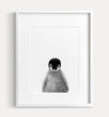 Baby Penguin Black and White Printable Art