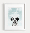 Baby Puppy Dog with Blue Sky Printable Art