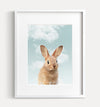 Baby Bunny Rabbit with Blue Sky Printable Art